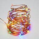 tanie Taśmy świetlne LED-10 m Łańcuchy świetlne 100 Diody LED SMD 0603 Ciepła biel / RGB / Biały Wodoodporny / Pilot zdalnego sterowania / Przygaszanie <5 V / IP65