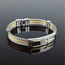 hesapli Kolyeler-Erkek Bileklik - Titanyum Çelik Rock Yıldızı, Gotik, Moda Bilezikler Altın / Gümüş Uyumluluk Parti Doğumgünü Hediye