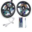 Χαμηλού Κόστους Φις-10 ίντσες Σετ Φώτων 600 LEDs 3528 SMD RGB Τηλεχειριστήριο / Μπορεί να κοπεί / Με ροοστάτη 12 V 1set / Συνδέσιμο / Αυτοκόλλητο / Αλλάζει Χρώμα / IP44