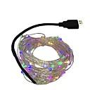 hesapli LED Modülleri-10m Dizili Işıklar 100 LED'ler Sıcak Beyaz / Beyaz / Mavi 5 V 1pc