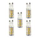 رخيصةأون أضواء شموغ LED-5pcs 3W 240lm G9 أضواء LED Bi Pin T 51 الخرز LED SMD 2835 أبيض دافئ / أبيض 220-240V / بنفايات