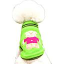 Недорогие Одежда и аксессуары для собак-Собака Свитера Одежда для собак Мультипликация Желтый / Красный / Зеленый Сукно Костюм Для домашних животных На каждый день