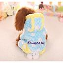 preiswerte Bekleidung & Accessoires für Hunde-Hund Overall Hundekleidung Geometrisch Gelb Blau Rosa Baumwolle Kostüm Für Haustiere Lässig/Alltäglich