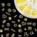 hesapli Makyaj ve Tırnak Bakımı-1 pcs Tırnak Takısı tırnak sanatı Manikür pedikür Günlük madeni / Moda / Nail Jewelry