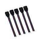 ieftine Conectori-5 buc hkv® rgb 4pin conector de cablu pentru cablu RGB pentru cabluri cu 4 pini cablu pentru controler de conducere rgb
