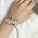 ieftine Ceasuri Damă-Pentru femei Brățări Bantă Leaf Shape femei Modă Aliaj Bijuterii brățară Argintiu / Roz auriu Pentru Zilnic