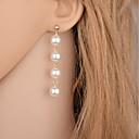 ieftine Cercei-Pentru femei Cercei Picătură Hanging Cercei Lung Plutire Picătură Ieftin femei stil minimalist Modă Elegant De Fiecare Zi Imitație de Perle cercei Bijuterii Auriu / Argintiu Pentru Petrecere Casual