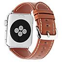 Недорогие Кейсы для iPhone-Ремешок для часов для Apple Watch Series 4/3/2/1 Apple Классическая застежка Натуральная кожа Повязка на запястье