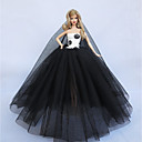 رخيصةأون مستلزمات وأغراض العناية بالكلاب-دمية اللباس إلى Barbie لون سادة لون الصلبة البوليستر فستان إلى لفتاة دمية لعبة