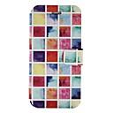 baratos Capas e Estojos para iPad-Capinha Para Apple iPhone X iPhone 8 Porta-Cartão Com Suporte Flip Estampada Capa Proteção Completa Estampa Geométrica Rígida PU Leather