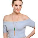 halpa Korvakorut-Naisten Synteettinen Emerald Riipus-kaulakorut Kaulaketjut Smaragdi Tupsu Tyylikäs Kulta Kaulakorut Korut Käyttötarkoitus Party Muodollinen