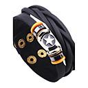 abordables Colliers-Homme Bracelets en cuir - Cuir Etoile, Bouton Rétro, Rock Bracelet Noir / Café Pour Décontracté / Sortie
