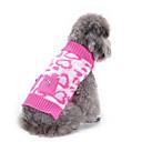 billige Kindle Etuier-Hund Bluser Hundetøj Hjerte Lys pink Akryl Fibre Kostume Til Forår & Vinter Vinter Herre Dame Afslappet / Hverdag