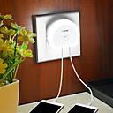 Χαμηλού Κόστους Σκουλαρίκια-BRELONG® 1 τμχ LED νύχτα φως Φορτιστές Λευκό Έλεγχος φωτισμού Ασύρματη Εύκολη μεταφορά