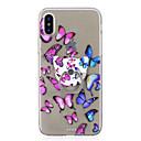 abordables Coques d'iPhone-Coque Pour Apple iPhone X / iPhone 8 Anneau de Maintien / Transparente / Motif Coque Papillon Flexible TPU pour iPhone X / iPhone 8 Plus / iPhone 8