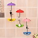 hesapli Banyo Gereçleri-Şemsiye duvar kanca anahtar saç pin tutucu renkli organizatör dekor süslemeleri anahtar askı raf dekoratif tutucu duvar kanca