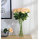 Χαμηλού Κόστους Gadget Μπάνιου-2 Κλαδί Πολυεστέρας Τριαντάφυλλα Λουλούδι για Τραπέζι Ψεύτικα λουλούδια