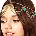 hesapli Saç Takıları-Kadın's Eski Tip Tarz Boho alaşım Turkuaz Sa Zinciri