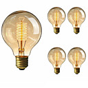 cheap Lanterns & Tent Lights-5pcs 40 W E26 / E27 G80 Warm White 2200-2700 k Retro / Dimmable / Decorative Incandescent Vintage Edison Light Bulb 220-240 V
