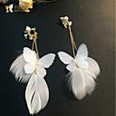 رخيصةأون أقراط-نسائي أقراط مشبكة سيدات كلاسيكي شرابة الأقراط مجوهرات أبيض من أجل زفاف مناسب للحفلات