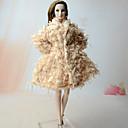 رخيصةأون ديكورات خشب-دمية أعلى السترات الفضفاضة إلى Barbie بدعة عتيقة غزل اصطناعي كتان / قطن ألياف نسجية تركيبية معطف إلى لفتاة دمية لعبة