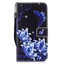 tanie Etui / Pokrowce do Samsunga Galaxy J-Kılıf Na Samsung Galaxy J3 (2017) Etui na karty Portfel Z podpórką Flip Pełne etui Motyl Twarde Skóra PU na J3 (2017)