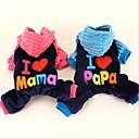 abordables Vêtements & Accessoires pour Chien-Chat Chien Manteaux Pulls à capuche Combinaison-pantalon Noël Vêtements pour Chien Bleu Rose Tissu Pelouche Coton Costume Pour les