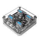 hesapli Şarj Aletleri-ORICO 4 USB Hub USB 3.0 USB 3.0 Yüksek Hız Veri Merkezi