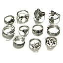 cheap Barware & Openers-Women's Statement Ring - Alloy Animal Ladies, Fashion Jewelry Gold / Silver For Daily Night out&Special occasion Cosplay Costumes One Size 10pcs