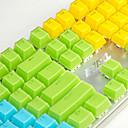 Χαμηλού Κόστους Αξεσουάρ παιχνιδιών Η/Υ-aj κρύσταλλο μηχανικό πληκτρολόγιο πληκτρολόγιο 104 πλήκτρο κλειδί δύο χρωμάτων διαφανές χρώμα καπέλο πολυχρωματικό προαιρετικό