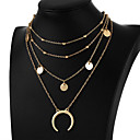 cheap Makeup & Nail Care-Women's Layered Choker Necklace / Pendant - Moon Simple, Fashion, Multi Layer Gold, Silver Necklace For Gift, Daily, Evening Party