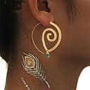 preiswerte Ohrringe-Damen Kristall Tropfen-Ohrringe / Kreolen - Kreis verdrehen Klassisch, Gothic, Erklärung Gold / Silber Für Party / Abiball / überdimensional