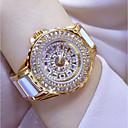 levne Galaxy S pouzdra / obaly-Dámské Náramkové hodinky japonština Křemenný Nerez Keramika Bílá / Stříbro / Zlatá 30 m Hodinky na běžné nošení Analogové dámy Přívěšky - Zlatá Stříbrná Růžové zlato