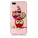 cheap iPhone Cases-Case For Apple iPhone X iPhone 8 Plus Transparent Pattern Back Cover Owl Soft TPU for iPhone X iPhone 8 Plus iPhone 8 iPhone 7 Plus