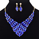 cheap Bathroom Gadgets-Women's Sapphire Crystal Geometrical Marquise Cut Jewelry Set Crystal Ladies, Fashion Include Light Yellow / Red / Blue For Wedding Party / Earrings