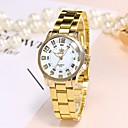 preiswerte Damenuhren-Damen Armbanduhr Chinesisch Armbanduhren für den Alltag Legierung Band Luxus / Freizeit / Modisch Gold