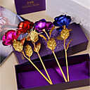 hesapli Yapay Çiçekler-Yapay Çiçekler 1 şube Modern Güller Masaüstü Çiçeği