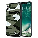 billige Herreure-Etui Til Apple iPhone X / iPhone 8 Plus Mønster Bagcover Ensfarvet / Camouflage Blødt TPU for iPhone X / iPhone 8 Plus / iPhone 8