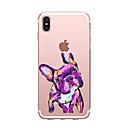 tanie Etui do iPhone-Kılıf Na Apple iPhone X iPhone 8 Przezroczyste Wzór Czarne etui Pies Miękkie TPU na iPhone X iPhone 8 Plus iPhone 8 iPhone 7 Plus iPhone