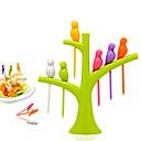 hesapli Sofra Takımı-Ağaç üzerinde 6 adet kuşlar meyve çatal mutfak tatlı araçları seti