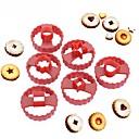Χαμηλού Κόστους Εργαλεία και γκάτζετ ψησίματος-Εργαλεία ψησίματος ABS ψήσιμο Εργαλείο / Γάμος / Πρωτοχρονιά Μπισκότα / για Cookie / για Candy Κυκλικό / Τετράγωνο Κουπ-πατ Μπισκότων 6pcs