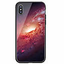 رخيصةأون أغطية أيفون-غطاء من أجل Apple iPhone X / iPhone 8 Plus / iPhone 8 نموذج غطاء خلفي سماء قاسي زجاج مقوى
