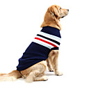 cheap USB Cables-Dog Sweater Dog Clothes Striped Dark Blue Red Cotton Costume For Spring &  Fall Winter Men's Women's Casual / Daily