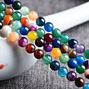 voordelige Nagelstempels-DIY sieraden 48 stk kralen Agaat Regenboog Rond Kraal 0.8 cm DIY Kettingen Armbanden
