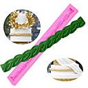 preiswerte Badezimmer Gadgets-1pc lange tasche seil string 3d silikonform schokolade fondant kuchen dekorieren form