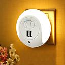hesapli Yenilikçi LED Işıklar-BRELONG® 1pc Gece aydınlatması LED Beyaz başucu USB Bağlantı Noktalı