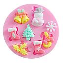 hesapli Fırın Araçları ve Gereçleri-Bakeware araçları Silikon Noel / Kendin-Yap Kek / Kurabiye / Tart karikatür Şekilli Pişirme Kalıp