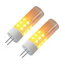 halpa LED Bi-Pin lamput-BRELONG® 2pcs 3W 230lm G4 LED-maissilamput 36 LED-helmet SMD 2835 Liekki-vaikutus Lämmin valkoinen 12V