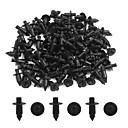 Недорогие Косметика и уход за ногтями-100шт универсальный 7 мм диам. Черный пластиковый брызговик push-type mat clip