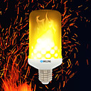hesapli Duvar Işıkları-BRELONG® 1pc 4W 700lm E14 E27 B22 LED Mısır Işıklar 99 LED Boncuklar SMD 2835 Alev efekti Sıcak Beyaz 85-265V